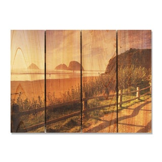Coastal Stroll 22.5x16 Indoor/ Outdoor Full Color Cedar Wall Art