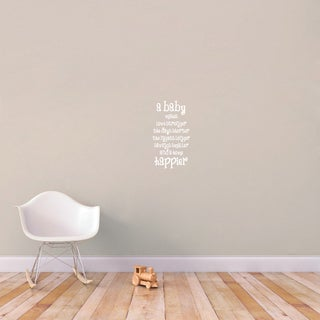 A Baby Makes A Home Happier Wall Decal