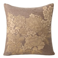 Japanese Floral Throw Pillow