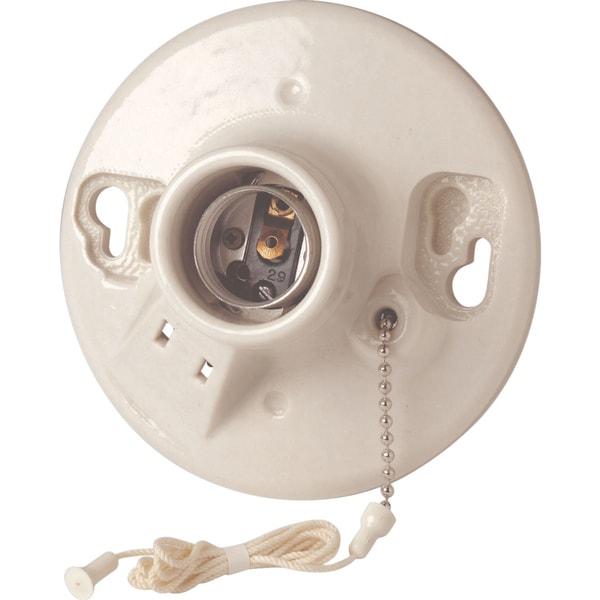 Leviton B01-09716-00C Pull Chain Lampholders & Side Outlet Porcelain