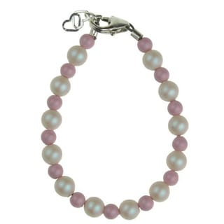 Crystal Dream Luxury Iridescent and Pink Pearl Baby Girl Stylish Keepsake Bracelet