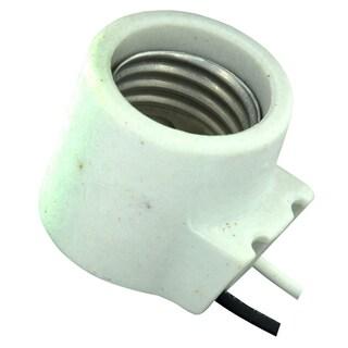 Leviton 008-18315-000 White Unglazed Porcelain Incandescent Light Fixture
