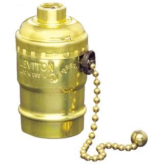 Leviton 057-07092-000 250 Watt Incandescent Light Fixture With Pull Chain