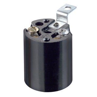 Leviton 922-03352-00F Black Lampholder Incand