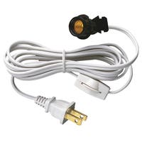 Westinghouse 7010800 6' White Cord Set With Pigtail, Base & Cord Switch