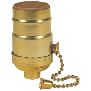 Westinghouse 7043100 Brass Finish 3-Way Pull Chain Socket