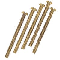 Westinghouse 7063600 Brass-Plated Steel Round Head Screws 5-count