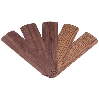 """Westinghouse 7741500 52"""" Oak & Walnut Reversible Fan Blades 5-count"""