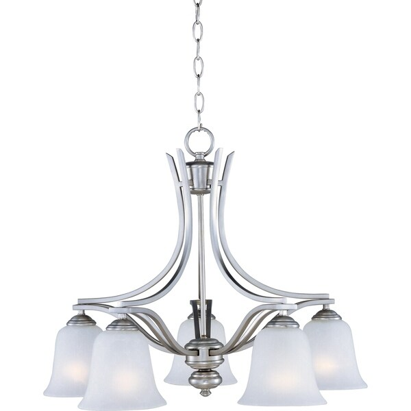 Maxim Madera Down Light Chandelier Silver