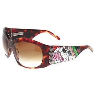 Ed Hardy Ehs-006 Love Dog Tortoise Sunglasses