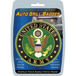 United States Army Automobile Grill Badge