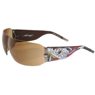 Ed Hardy Ehs-010 Wolf Tortoise/ Brown Sunglasses