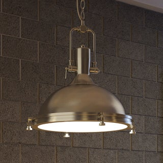 Vonn Lighting Dorado 16-inches LED Pendant Light Adjustable Hanging Industrial Pendant Lighting in Satin Nickel