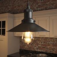 Vonn Lighting Delphinus Pendant with Filament Bulb in Architectural Bronze