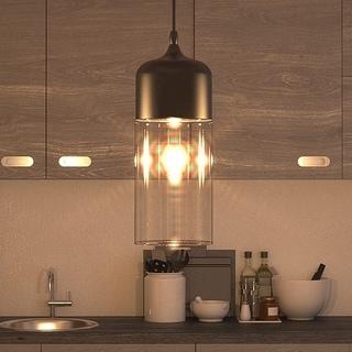 Vonn Lighting Delphinus LED Pendant Light Adjustable Hanging Industrial Pendant Lighting with LED Filament Bulb in Black