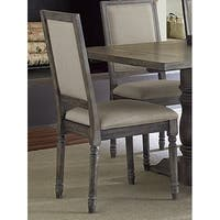 Muses Weathered Pepper Upholstered Back Chair (Set of 2)