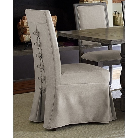 Muses Upholstered Grey Fabric Rubberwood Covered Parsons Chairs (Set of 2)  sc 1 st  Overstock.com & Shop Muses Upholstered Grey Fabric Rubberwood Covered Parsons Chairs ...