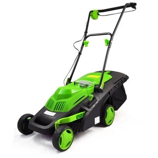 SereneLife PSLCLM60 Cordless Electric Lawn Mower with Rechargeable Battery and Easy-Empty Grass Bin