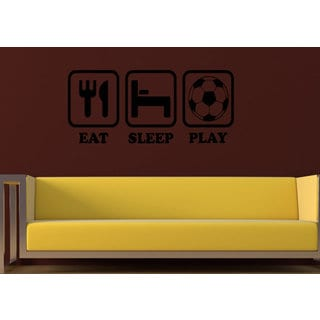 Eat Sleep Play Wall Art Sticker Decal
