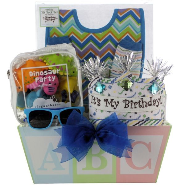 Shop Babys First Birthday Boy Gift Basket