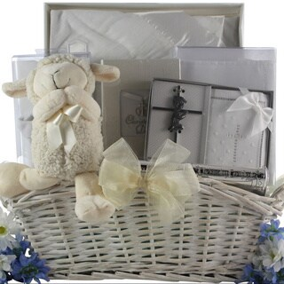 Great Arrivals Beautiful Blessings On Your Christening Day Baby Boy Gift Basket
