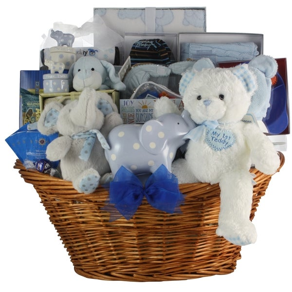 2a0662bcb3344 Great Arrivals Grand Welcome! Baby Boy Gift Basket