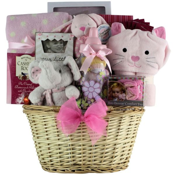 Great Arrivals Congratulations Baby! Girl Gift Basket. Opens flyout.