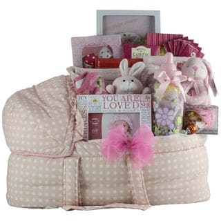 Great Arrivals Best Wishes! Baby Girl Gift Basket