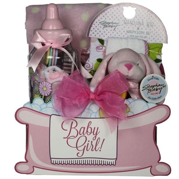 Baby Gift Basket Essentials : Great arrivals baby essentials girl gift basket free