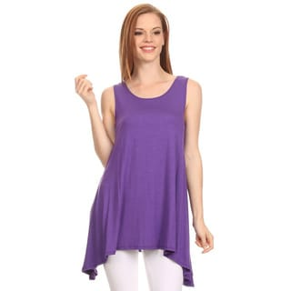MOA Collection Women's Solid Asymmetrical Hem Tank Top