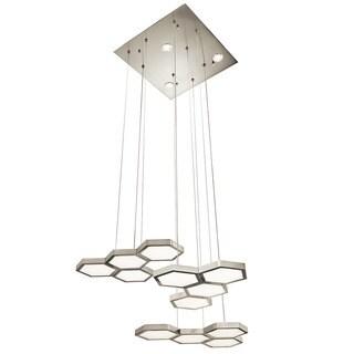 Kichler Lighting Contemporary 16-light Chrome/Brushed Aluminum LED Chandelier
