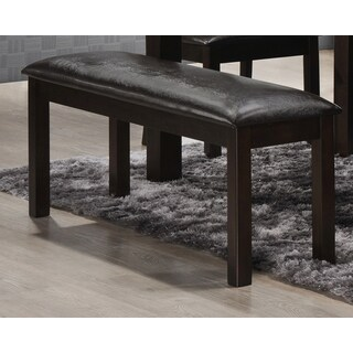 Durango Brown Upholstered Dining Bench