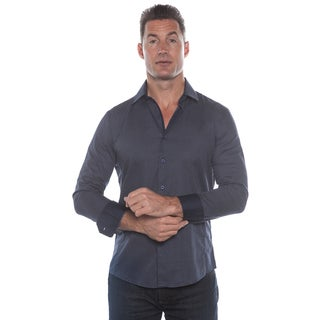 Isaac B. Blue Small Polka Dot Long Sleeve Button Down Shirt