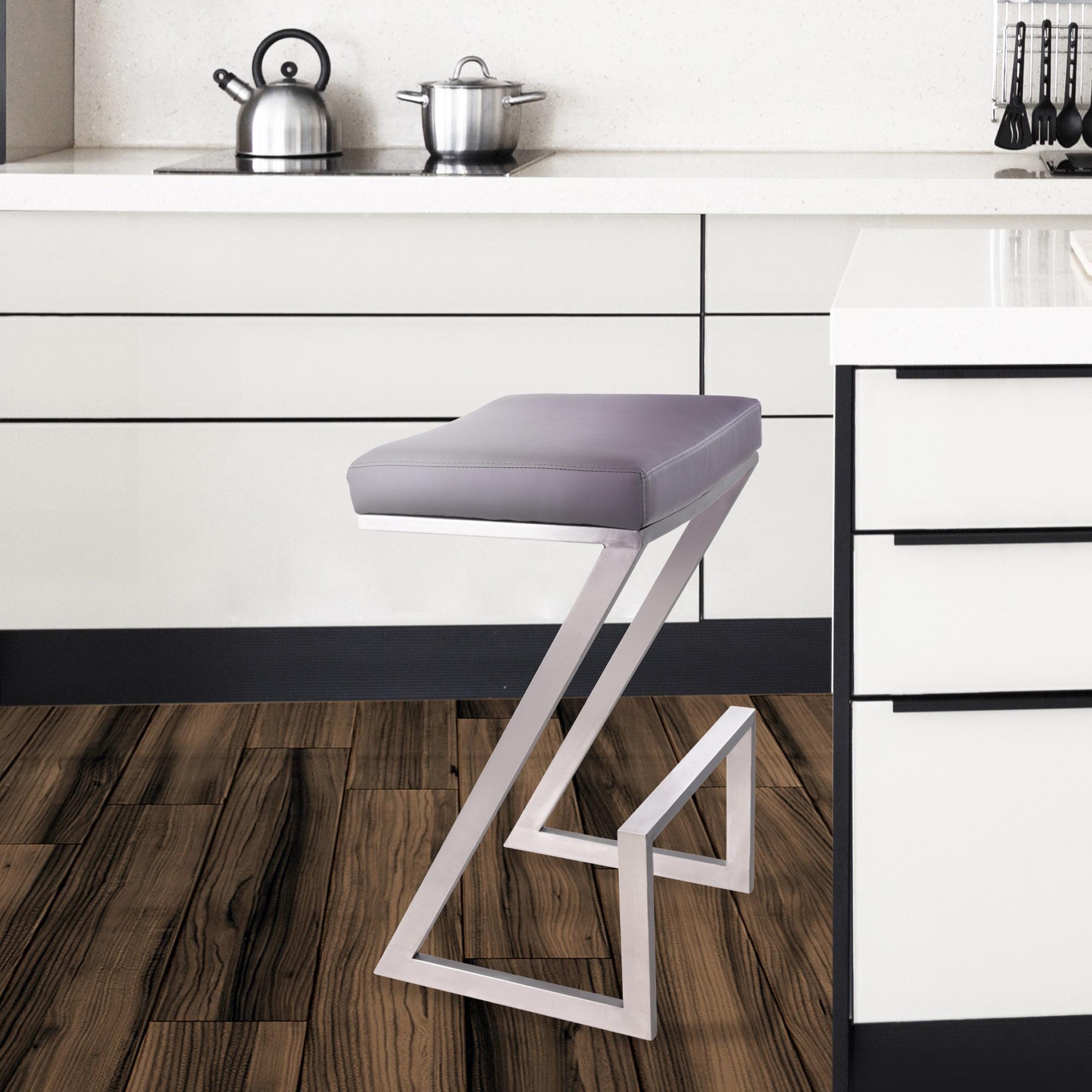 Miraculous Armen Living Atlantis 26 Inch Backless Counter Height Stool Machost Co Dining Chair Design Ideas Machostcouk