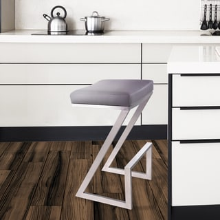 Armen Living Atlantis 26-inch Backless Counter Height Stool