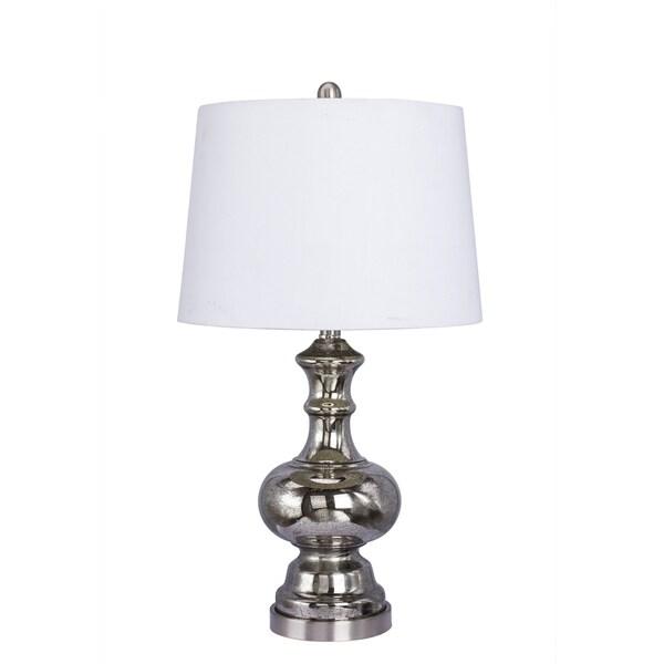26.5-inch Glass Table Lamp in Black Mercury Finish