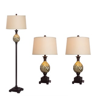 3-piece Lamp Set in Old English Finish