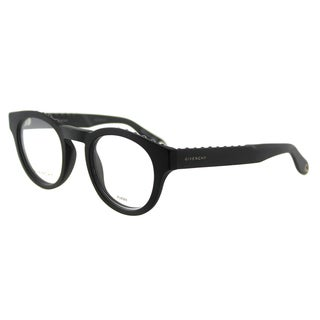 Givenchy GV 0007 QHC Studed Matte Black Plastic Round 48mm Eyeglasses
