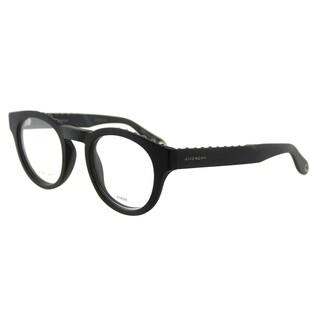 Givenchy GV 0007 QHC Studed Matte Black Plastic Round 48mm Eyeglasses