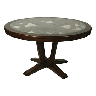 Round Dining Table with Glass Insert