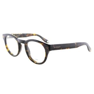 Givenchy GV 0007 086 Studed Havana Plastic Round 48mm Eyeglasses