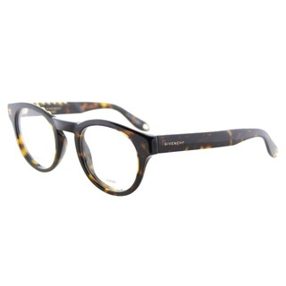 Givenchy GV 0007 086 Studed Havana Plastic Round 48mm Eyeglasses