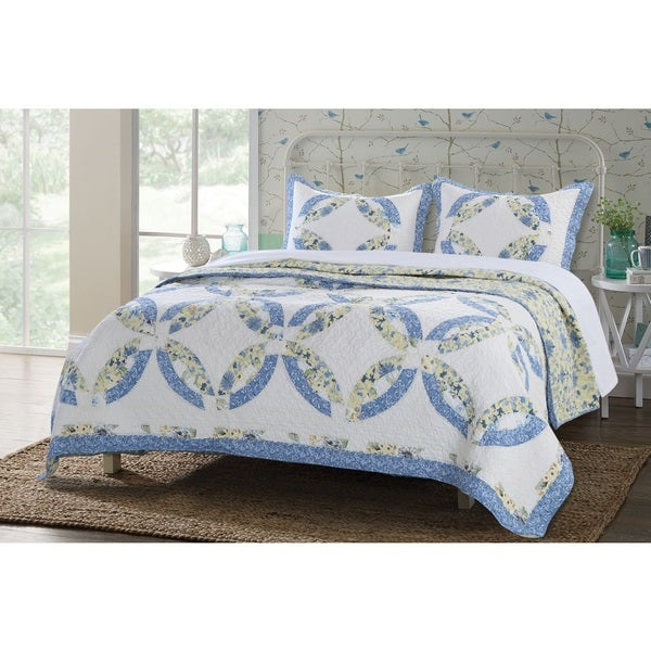Greenland Home Fashions  Forever Authentic Patchwork 3-piece Quilt Set
