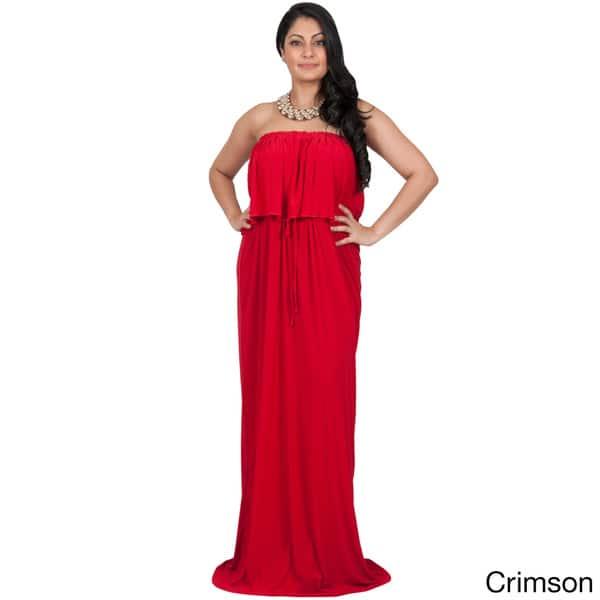 Shop KOH KOH Womens Plus Size Strapless Summer Flattering ...