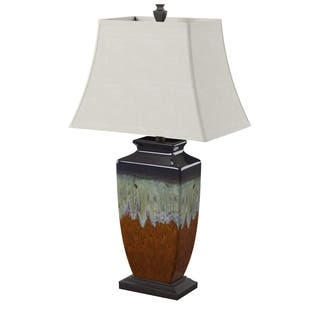 Rustic table lamps for less overstock reactive glaze ceramic table lamp aloadofball