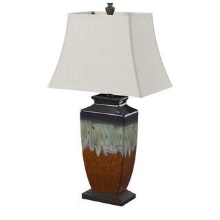 StyleCraft Reactive Glaze Ceramic Table Lamp