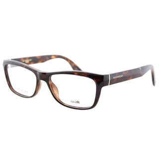 Givenchy GV 0003 LSD Havana Plastic Rectangle 52mm Eyeglasses