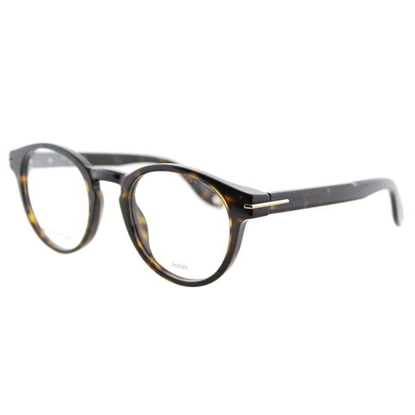 3e88e0525372 Shop Givenchy GV 0002 086 Havana Plastic Round 49mm Eyeglasses - On ...