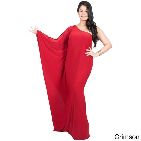 Shop KOH KOH Women\'s Plus Size One Shoulder Single Sleeve ...