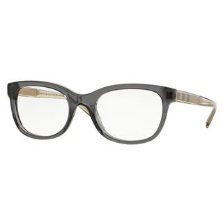 Burberry Women's BE2213F 3544 Grey Plastic Square Full-rim Eyeglasses